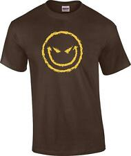 Funny Evil Smiley Face Attitude Grin Humor Novelty T-Shirt