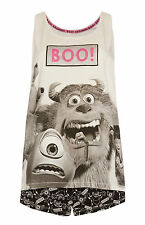 Ladies DISNEY MONSTERS INC Pyjamas Primark Vest T Shirt & Shorts