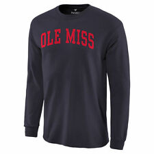 Ole Miss Rebels Basic Arch Long Sleeve T-Shirt - Navy - College