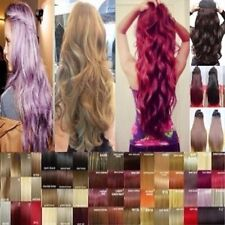 US Real 1PC 5 Clips Clip In Hair Extensions Hairpiece Hair Extentions Human Tws
