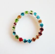 2mm Multi-colour Crystal Rhinestone TOE RING Stretch fit Beach Bridal