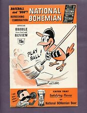 1955 BALTIMORE ORIOLES SCORE CARD VS KANSAS CITY A'S NEATLY SCORED SEE SCAN