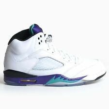 AIR JORDAN 5 RETRO WHITE GRAPE ICE 2013 NEW EMERALD V PURPLE NIKE DS 136027-108