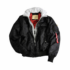 ALPHA INDUSTRIES MA-1 D-TEC BLACK FLIGHT BOMBER JACKET NIP