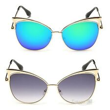 Vintage Retro Unisex Women Men Glasses Cat Ears Mirror Lens Sunglasses Fashion