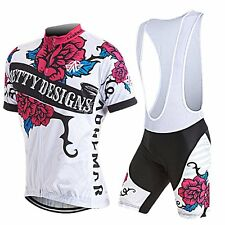 2016 Women Men Cycling Bike Suit Short Sleeve Set Bicycle Jersey Bib Shorts Kit
