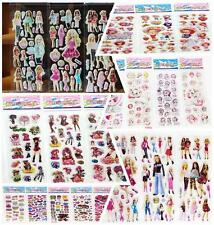 Stickers lot Girl's Favors stickers- 3D Puffy Scrapbooking Party Favors Crafts