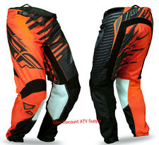 CLEARANCE Fly Racing Kinetic Shock Graphic Pants ADULT YOUTH Orange-Black ATV MX