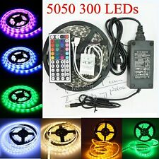 5M 5050 SMD IP20 IP65 RGB/White LED Strip Flexible Lights 300leds Xmas Tape Lamp