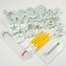 46pcs Cake Decorating Tools Set For Fondant Sugarcraft Topper Cutters Mould  KD