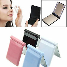 Makeup Cosmetic Folding Portable Compact Pocket 330° Mirror with 8 LED Light New