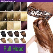 "LONG 15"" 18"" 20"" 22"" 7pcs Clip In Remy Human Hair Extensions Full Head 70g MX716"