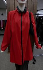 """Mycra Pac 36"""" Red Stadium Zip Front Reversible Raincoat with Matching Travel Bag"""