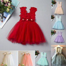 Toddler Girls Kids Baby Princess Party Prom Wedding Tulle Tutu Dresses Christmas