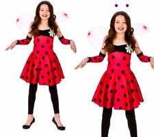 Ladybird Girls Fancy Dress Costume Lady Bug Insect Kids Outfit 3/13 Years