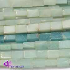 Natural Genuine Green Blue Amazonite Square Rectangle Shape Loose Beads 16""