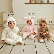 Newborn Infant Baby Grow Boy Girl Romper Hooded Jumpsuit Bodysuit Clothes Outfit