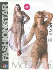 McCalls M6790 Misses Easy Dress & Slip Sewing Pattern ~ Size 8 10 12 14 16