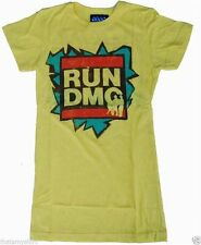 New Authentic Junk Food Run DMC Retro Juniors Tee Shirt in Yellow