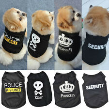 Small Cat Dog Puppy Vest T-Shirt Coat POLICE SECURITY Teddy Costumes Pet Clothes