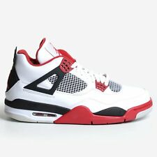 AIR JORDAN 4 RETRO WHITE VARSITY RED 2012 BLACK IV NIKE MEN'S DS 308497-110