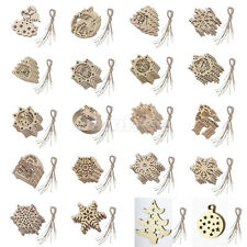 10pcs Christmas Tree Decorations Xmas Decor Hangers Santa Reindeer Snowflake