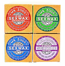 Mr Zogs Sex Wax Quick Humps Surf Surfing Surfboard Wax - Cold Cool Mild Tropic