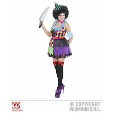 Ladies Womens Evil Clown Girl Costume Outfit for Circus Fancy Dress