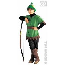 Boys Robin Hood Costume Outfit for Hood Middle Ages Medieval Fancy Dress