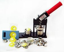"Tecre Button Maker Kit 1.25"" 1-1/4 Inch Machine, Button Boy Punch + Button Parts"