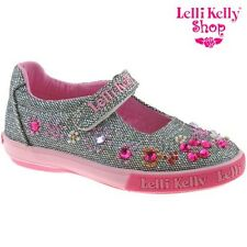 Lelli Kelly LK3110 (GT01) Rachele Silver Glitter Canvas Shoes