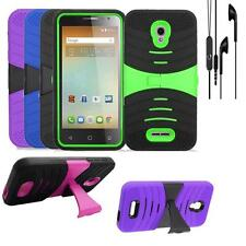 For AT&T Alcatel Allura GoPhone Phone Case Heavy Duty Cover Headphone Earphone
