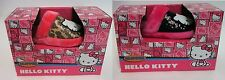 Hello Kitty Sanrio Sequin Slippers Pink Black, Pink Animal Print NIB Sz 5/6, 7/8