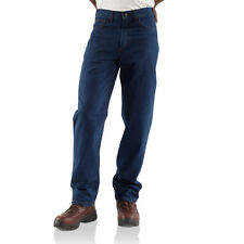 Carhartt Mens Flame Resistant Straight leg Relaxed Fit Denim Jeans