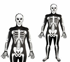 Skeleton Glow In The Dark Skinz Costume Adults Halloween Fancy Dress