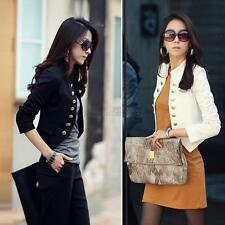 Women Ladies Long Sleeve Button Casual Blazer Suit Jacket Coat Outwear Tops