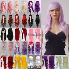 "Womens 32""/80cm Long Curly Wavy Hair Fashion Wig Costume Cosplay Party Full Wigs"