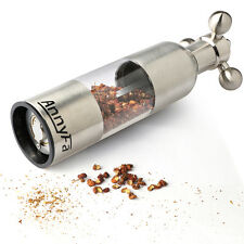 NBL  Stainless Steel & Acrylic Salt Pepper Mill Grinder Spice Manual Hand Mill