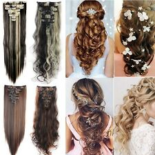 Maga Thick 8 Pcs Long Clip in Full Head Hair Extensions Extensions for human f1r