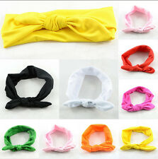 Newborn Headbands Stretch Rabbit Bow Ear Turban Knot Hair band LA