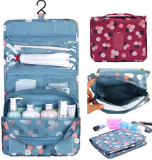 Travel Waterproof Toiletries Cosmetic Storage Bag Portable Folding Hanging Pouch