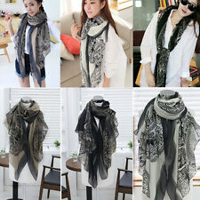New Pretty Long Soft Women Fashion Chiffon Scarf Wrap  Shawl Stole Scarves hs