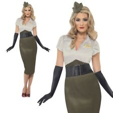 WW2 Army Pin Up Spice Darling Costume Ladies 1940s World War Outfit 8-18