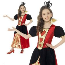Girls Fairytale Little Miss Hearts Costume Queen Of Hearts Alice Fancy Dress