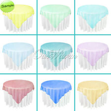 "10Pcs 72""x 72"" Square Organza Table Overlay Cover Sheer Tablecloth Wedding Party"