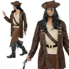 Adult Buccaneer Pirate Fancy Dress Mens Deluxe Costume Pirates Outfit