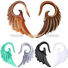 4mm-10mm Resin Carved Angel Wing Spiral Taper Stretcher Ear Plugs Expander Punk