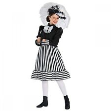 Edwardian Girl Black & White Stripe Mary Poppins Dance Costume