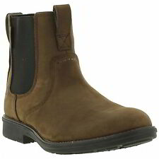 Timberland Carter Notch Plain Toe Mens Brown Leather Chelsea Boots Size Uk 8-11