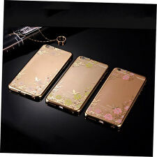 Luxury Diamond Electroplating Super Flower Pattern TPU Phone Case for iPhone ZA